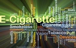 E-Cigarette background concept glowing Stock Illustration