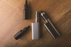 E cigarette or electronic cigarette for vaping mods. Royalty Free Stock Photography