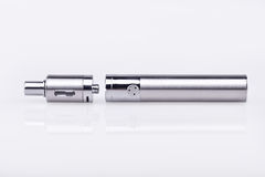 E-cigarette mod on white Royalty Free Stock Image
