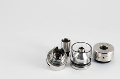 E-cigarette RDA, RTA rebuildable atomizer. Royalty Free Stock Photography