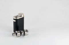 E-cigarette or vaping device. Mod with tank. royalty free stock photos
