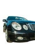 E-classe preta de Mercedes do carro do farol Foto de Stock Royalty Free