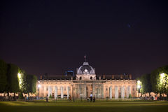 École Militaire (Military Shcool) in Paris at night Royalty Free Stock Photography