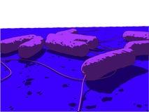 E-Coli-Bakterium stock abbildung