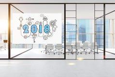 2018 e começam acima o esboço na sala de conferências Fotografia de Stock Royalty Free