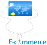 E-commerce. Concept using credit card Royalty Free Stock Images
