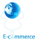 E-commerce. Global business concept - e-commerce Royalty Free Stock Images