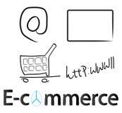 E-commerce. Concept design on white Stock Photo