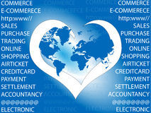 E-commerce. I love e-commerce world Stock Photography
