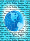 E-commerce. This is the e-commerce world Royalty Free Stock Photography