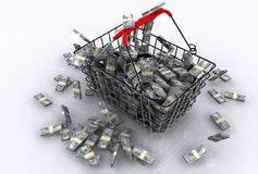 E-commerce. A 3d illustration of concept of e-commerce Royalty Free Stock Photos