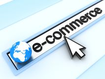 E-commerce. Abstract assress line, E-commerce (done in 3d Vector Illustration
