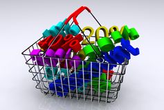 E-commerce. A 3d illustration of concept of e-commerce Royalty Free Stock Photography