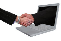 E-Commerce. Business metaphor representing E-commerce agreements Royalty Free Stock Photo