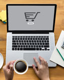 E-Commerce Add to Cart Online Order Store Buy shop Online payment Shopping royalty free stock photography