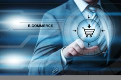 E-commerce add to cart  online shopping business technology internet concept Stock Photography