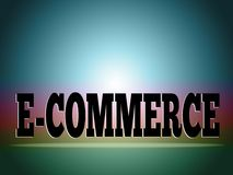 E-commerce background Stock Image