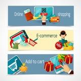 E-commerce Banner Set Stock Images
