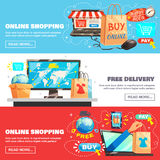E-Commerce Banners Collection Stock Image