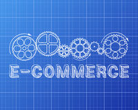 E Commerce Blueprint Royalty Free Stock Photo