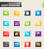 E-commerce Bookmark Icons. E-commerce vector bookmark icons for your design Royalty Free Stock Images