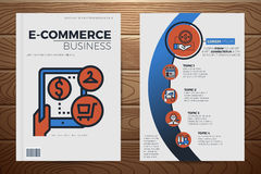 E-commerce business book cover template Royalty Free Stock Images