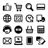 E-commerce Business Icons Set. Vector Stock Images