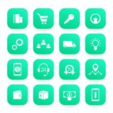 E-commerce, business and online shopping icons set. Eps 10 file, easy to edit Stock Photo