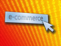 E-commerce button royalty free illustration