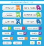 E-commerce buttons set Stock Images