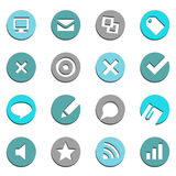 E-commerce Buttons Set Royalty Free Stock Photos