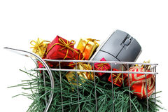 E-commerce Christmas shopping time Royalty Free Stock Images