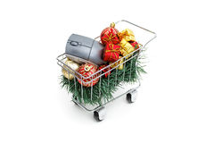 E-commerce Christmas time royalty free stock photos