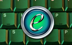 E-commerce computer button Stock Image