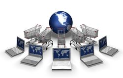 E-commerce concept Royalty Free Stock Photos