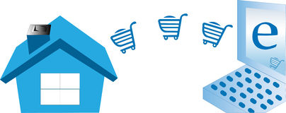 E commerce concept Royalty Free Stock Photography
