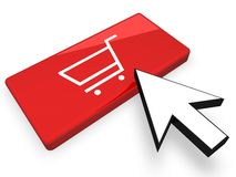 E-Commerce Concept. I n3D Royalty Free Stock Photo