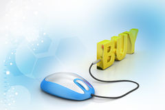 E- commerce concept. In color background Royalty Free Stock Images