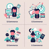 E-commerce concept design Royalty Free Stock Photography