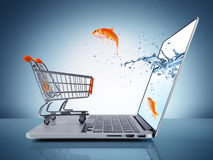 E-commerce concept Stock Photography