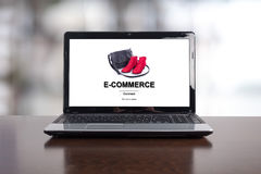 E-commerce concept on a laptop. Screen royalty free stock photos