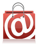 E-Commerce Concept shopping bag Stock Images