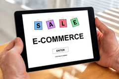 E-commerce concept on a tablet Royalty Free Stock Images