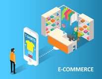 E-commerce concept vector isometric illustration stock illustration