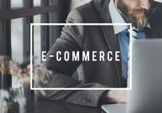 E-commerce Connecting Data Digital Email Web Concept Stock Photos