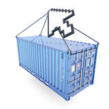 E-commerce container delivery Royalty Free Stock Photography