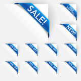 E-Commerce Corner Text Labels. Text corner labels for e-commerce Royalty Free Stock Image