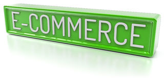 E-Commerce -  3D Render Royalty Free Stock Photography