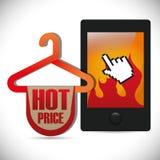 E-commerce deals sale icons. Vector illustration design Stock Image