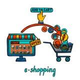 E-commerce design concept Royalty Free Stock Image